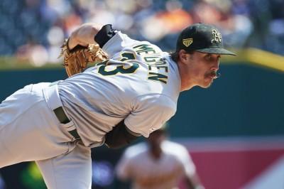 MLB》曼登7局好投奪首勝 運動家系列賽3連勝老虎(影音)