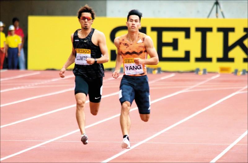 200公尺衝贏地主 楊俊瀚「銀」了