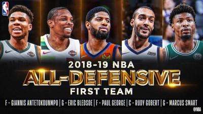 NBA》年度最佳防守球隊出爐 字母哥首度入選第一隊
