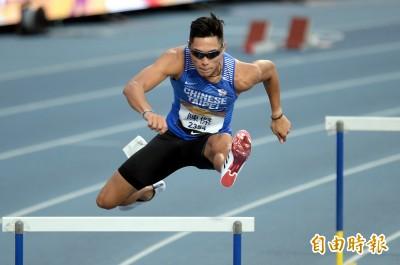 台灣田徑公開賽》「跨欄王子」陳傑跑到斷片 個人本季次佳49秒37鍍金