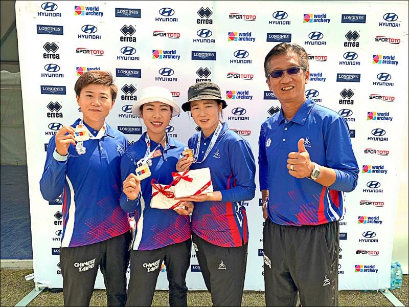 射箭世界盃》2年默契加持信心 台灣女團奪金