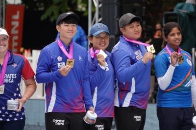 射箭世錦賽》台灣複合弓女團好威 逆轉美國射下隊史第2金!