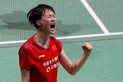 羽球世錦賽》中國陳雨菲3局力退丹麥好手 差1勝成為新科球后