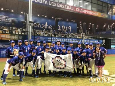 U15青少棒》冠軍戰因雨停賽 積分裁定台灣隊亞軍