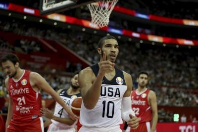 籃球世界盃》美國隊塔圖姆腳扭傷 恐缺席至少2場比賽