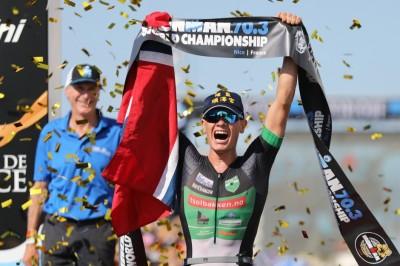 鐵人三項》挪威選手戴宮廟帽奪冠 發文表白「我愛台灣!」