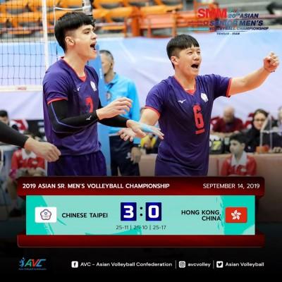 排球》直落三輕取香港!台灣男排亞錦賽晉級8強