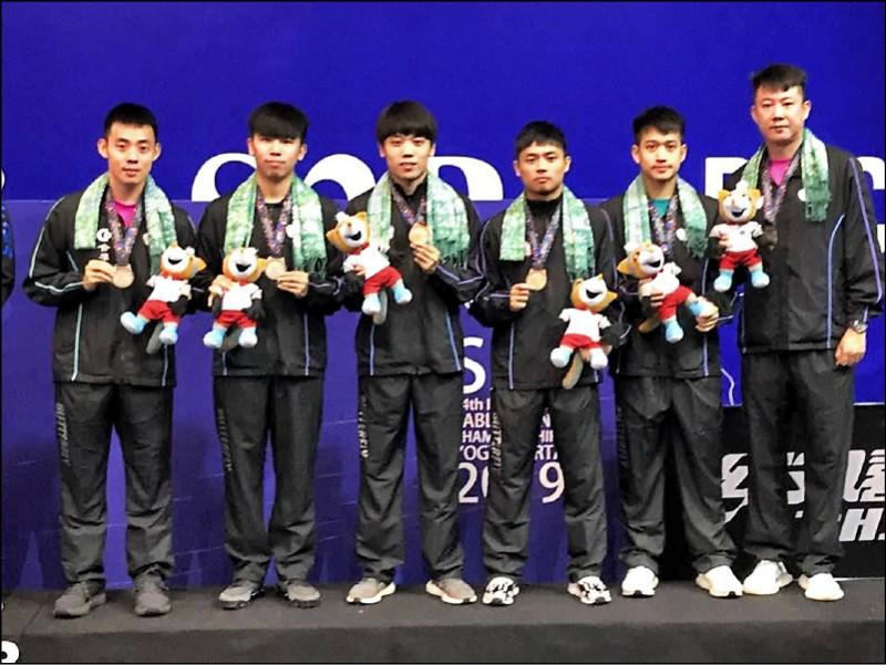 桌球亞錦賽》台灣男團星光黯淡 連5屆銅牌