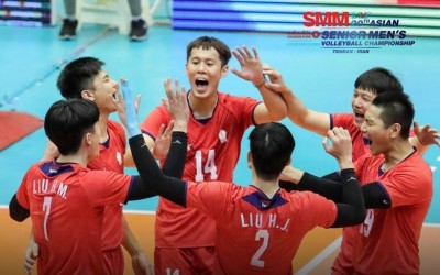排球亞錦賽》台灣男排力挫中國隊 收下隊史次佳第5名