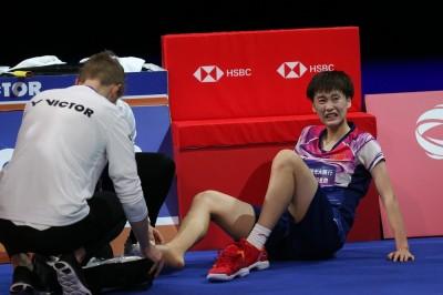 丹麥賽》陳雨菲右腳扭傷受傷嚇壞眾人  她PO照說明狀況