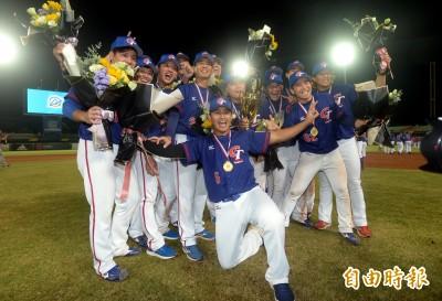 亞錦賽》「終於,我們不再吃鍋貼」小英總統發文祝賀台灣隊