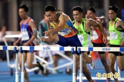 全運會》「台灣欄神」陳奎儒完成110跨欄4連霸 卻恨不得用撲的