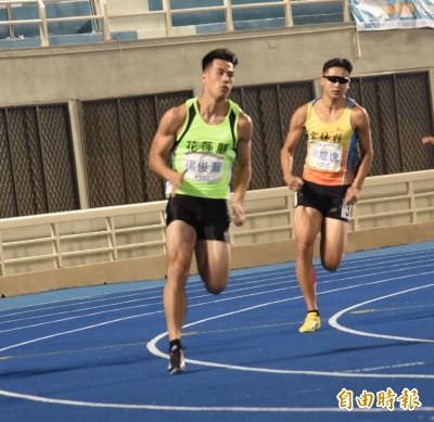 全運會》「台灣最速男」楊俊瀚200兩趟輕鬆跑 明挑戰本屆第3金