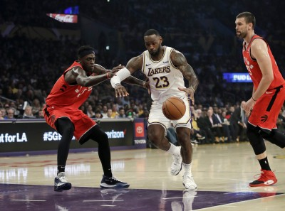 NBA》詹皇大三元做白工 湖人慘遭暴龍逆轉終止7連勝