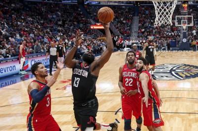NBA》哈登末節飆分、全場砍39分 火箭擊落鵜鶘