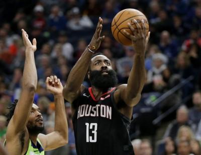 NBA》哈登49分生擒灰狼 火箭七連勝緊追湖人(影音)