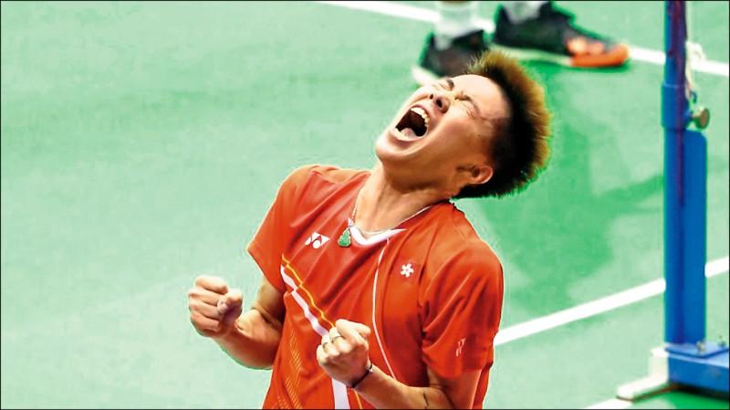 香港羽球公開賽》挺反送中 李卓耀封王