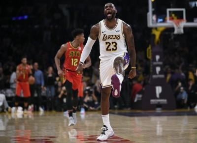 NBA》詹姆斯發威33分、0失誤 老鷹連兩天遭洛城軍打爆慘輸70分
