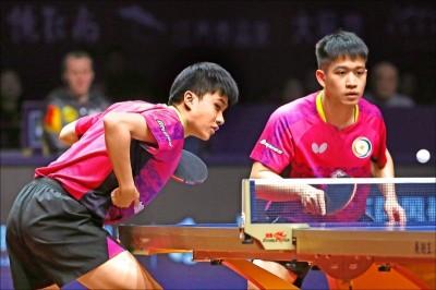 桌球年終賽》林昀儒男雙決賽 教練這番話讓中國網友笑翻