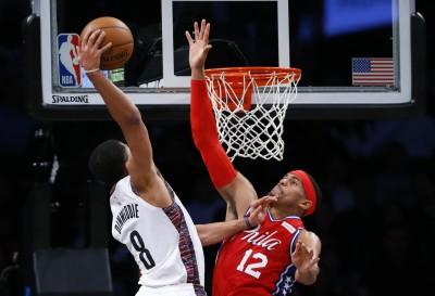 NBA》「丁丁」飆分再上演超狂暴扣 籃網大勝七六人(影音)