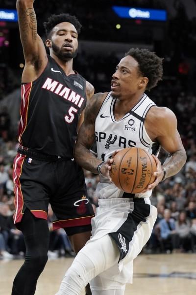 NBA》馬刺雙星合轟41分終結2連敗 熱火客場勝率跌破5成