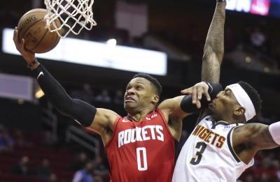 NBA》魏少、哈登合轟55分 火箭擊退金塊終止4連敗