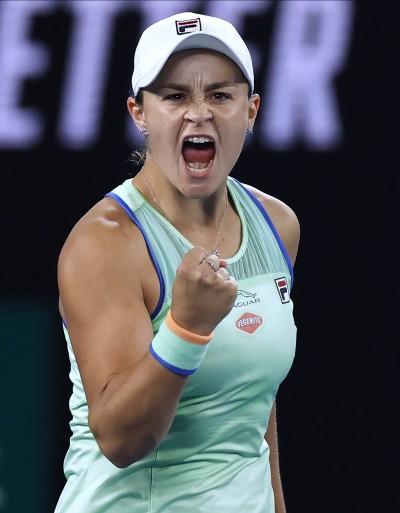 澳網》地主球后芭提甜蜜復仇 連2年女單8強卡位