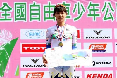 自由車》17歲正妹車手奪計時賽金牌 夢想是當空中「花木蘭」