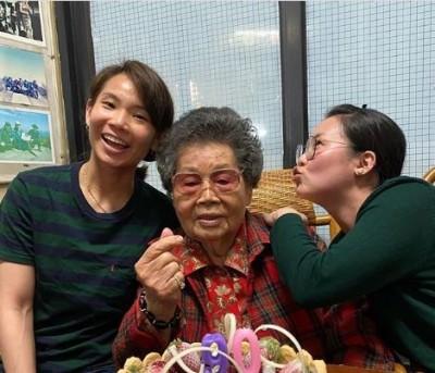羽球》台灣一姐的強大後盾 戴資穎歡慶奶奶90歲生日