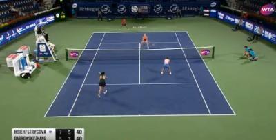 網球》謝淑薇關鍵時刻美技頻發 搭檔讚不絕口 (影音)
