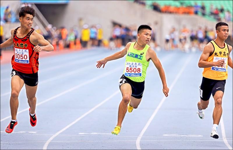 港都盃田徑賽》楊俊瀚百公尺 3跑全破大會