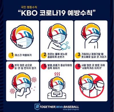 武漢肺炎》跟隨中職腳步 韓職推出最新防疫Logo