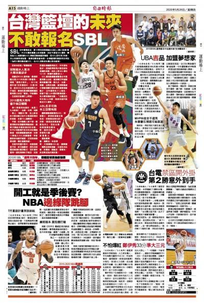 台灣籃壇的未來 不敢報名SBL