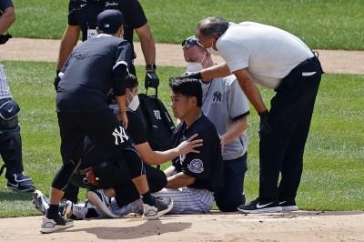 MLB》田中將大遭強襲球爆頭 洋基隊友為何憤怒不已?
