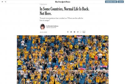 中職》百萬象迷太狂!兄弟滿滿黃衫海登上《紐約時報》