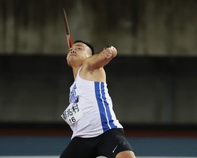東奧模擬賽》「黃金右臂」鄭兆村說到做到 擲出84公尺22奪標槍金牌