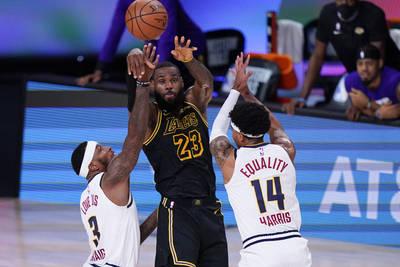 NBA》詹姆斯西冠G2上半場轟20分 湖人穩贏了?