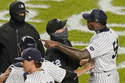 MLB》對光芒投101英哩頭部危險球 洋基查普曼今年將躲過禁賽?