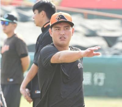 中職》林祖傑參加獅隊練球 拚總冠軍賽復出