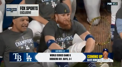 MLB》扯!奪冠後傳出確診 明星三壘手沒戴口罩拍團體照(影音)