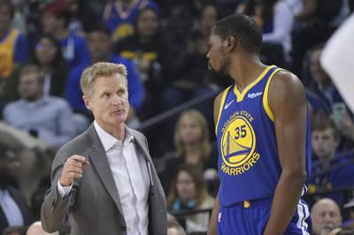 NBA》開幕戰就要強碰昔日子弟兵  柯爾嘆:勇士欠KD不少...
