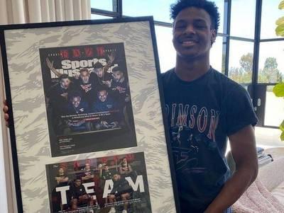 NBA》大兒子也登上美國權威雜誌封面 老爸「詹皇」好驕傲