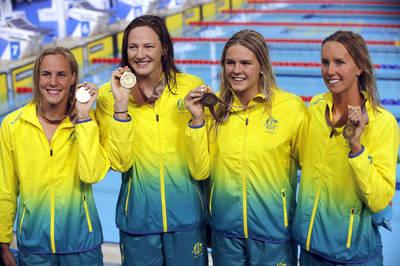 東奧游泳》本屆首個世界紀錄誕生 澳洲女子400自接力締2連霸