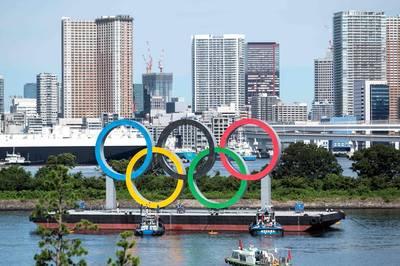 東奧》東京灣巨型奧運5環功臣身退! 宣告將由帕運接棒