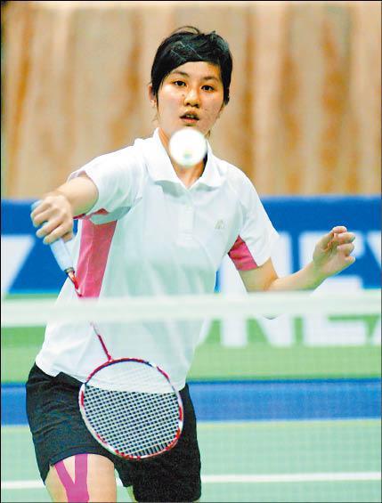 小將江佩欣昨天在中華台北羽球公開賽會外賽連闖兩關,首度搶下會內賽門票。(圖/羽球協會提供)