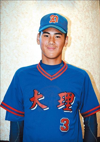 大理青少棒隊王偉傑,出身棒球世家,爸爸是前職棒球員王光熙。(記者方賓照攝)