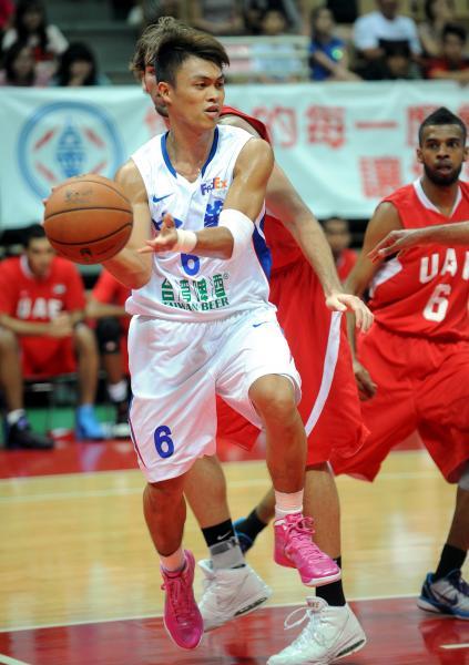 台灣控衛李學林,被前NBA明星控衛馬布瑞盛讚是「領袖型球員」。(本報資料照‧記者林正堃攝)
