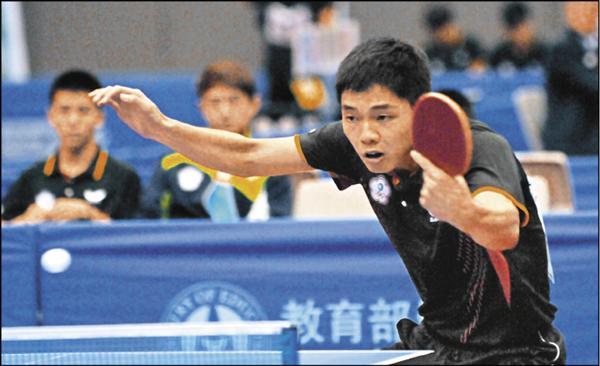智淵乒乓球館「三劍客」之一孫嘉宏。(桌協提供)