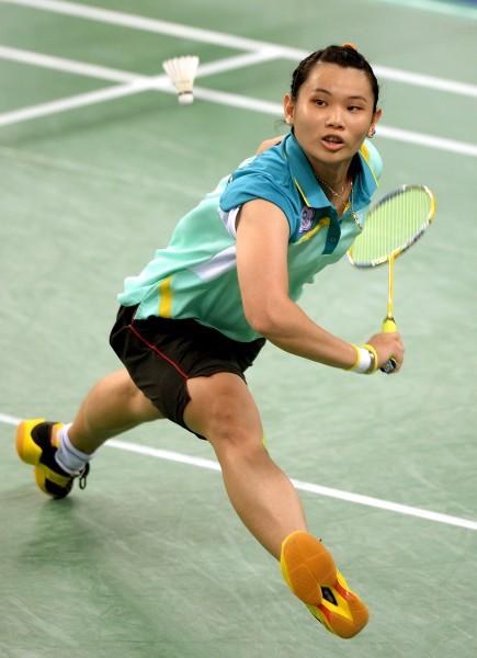 台灣好手戴資穎今日在亞運羽球女單四強賽對上中國籍的李雪芮,最終以1比2的比數落敗,獲得銅牌。(資料照,記者林正堃攝)