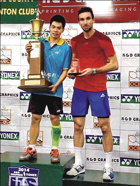 美國羽球大獎賽男單許仁豪(左)獲今年個人國際賽首冠。(圖:許仁豪提供)